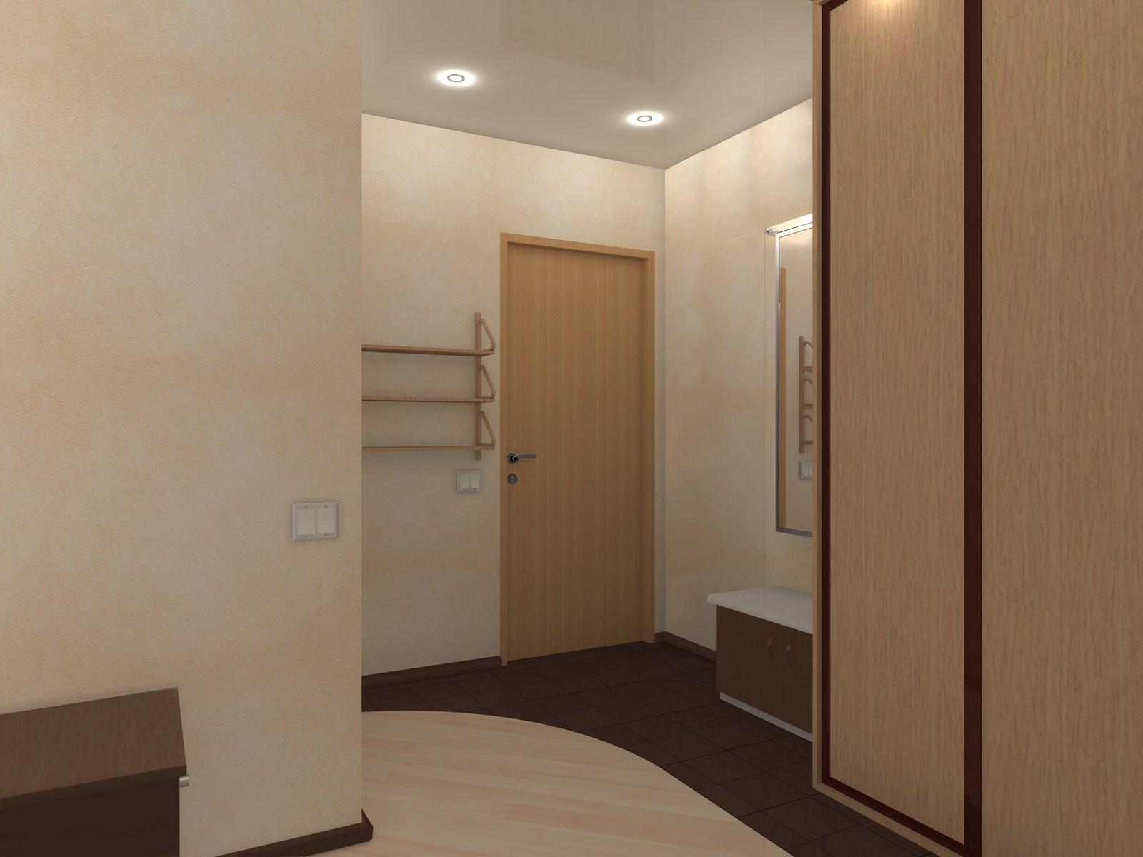 светлые обои в прихожую комнату в стиле прованс под темную дверь
