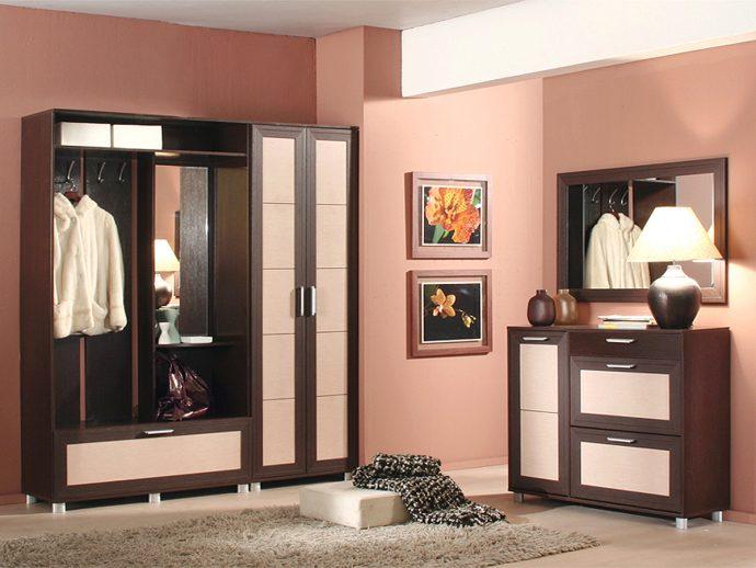 красивый интерьер прихожей комнаты с маленьким коридором картинка