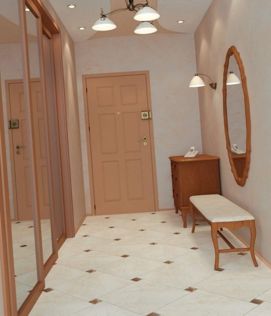 красивый дизайн отделки проходной комнаты