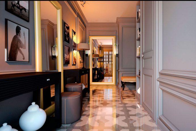 интересный стиль коридора с маленьким коридором фото