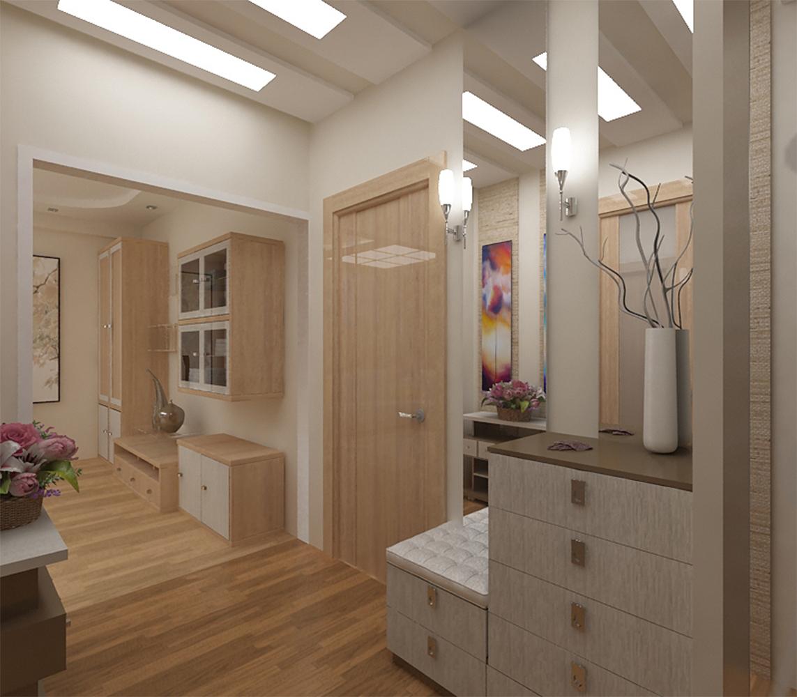 яркий дизайн коридора в новом стиле