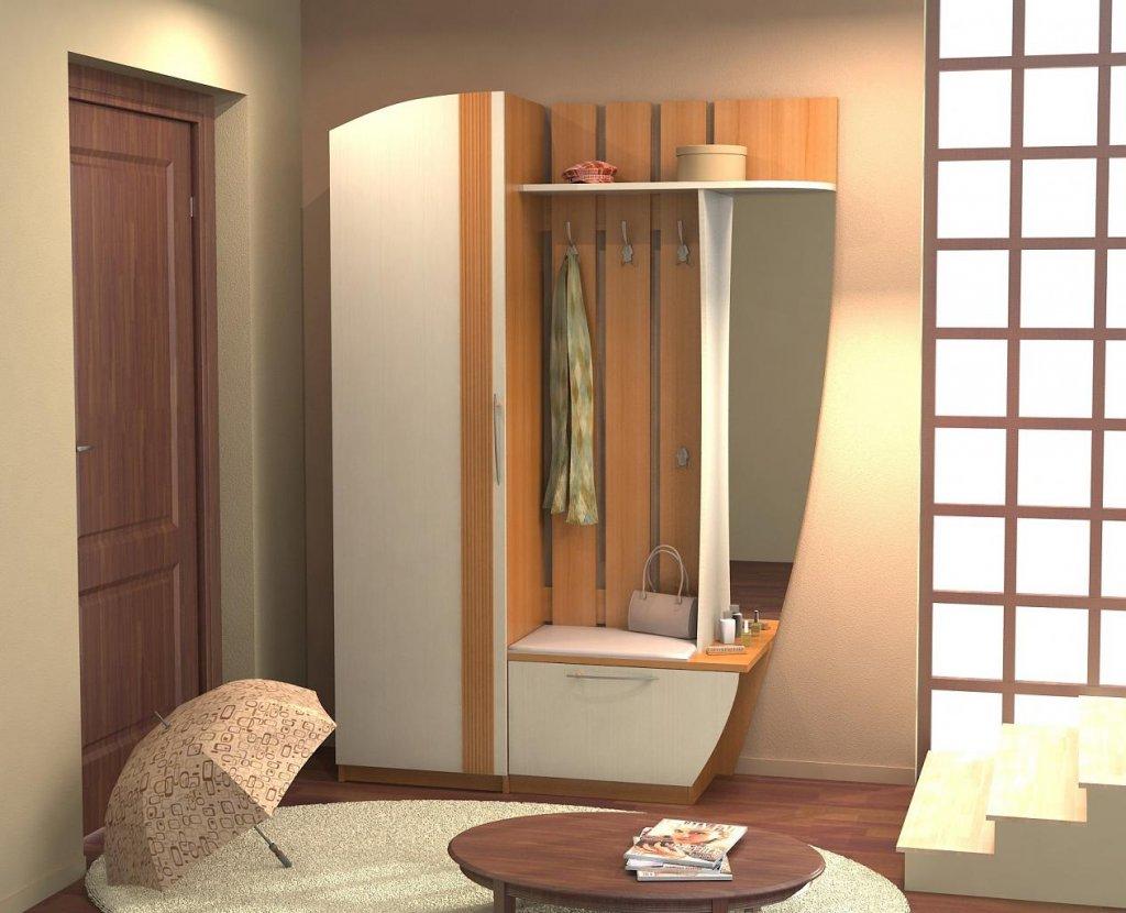 светлый дизайн прихожей комнаты с маленьким коридором