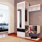 светлый стиль маленькой прихожей комнаты в современном стиле фото