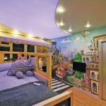 красивый натяжной потолок с фотопечатью в детской фото