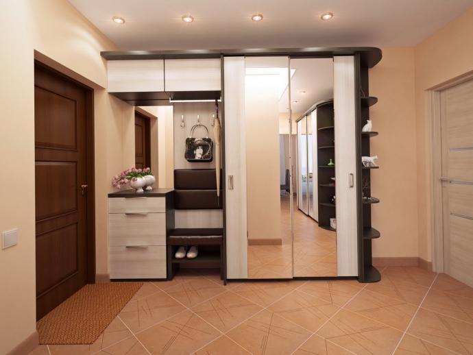 красивый стиль прихожей с маленьким коридором картинка