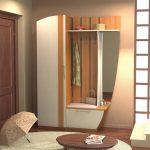 интересный интерьер прихожей комнаты с маленьким коридором фото