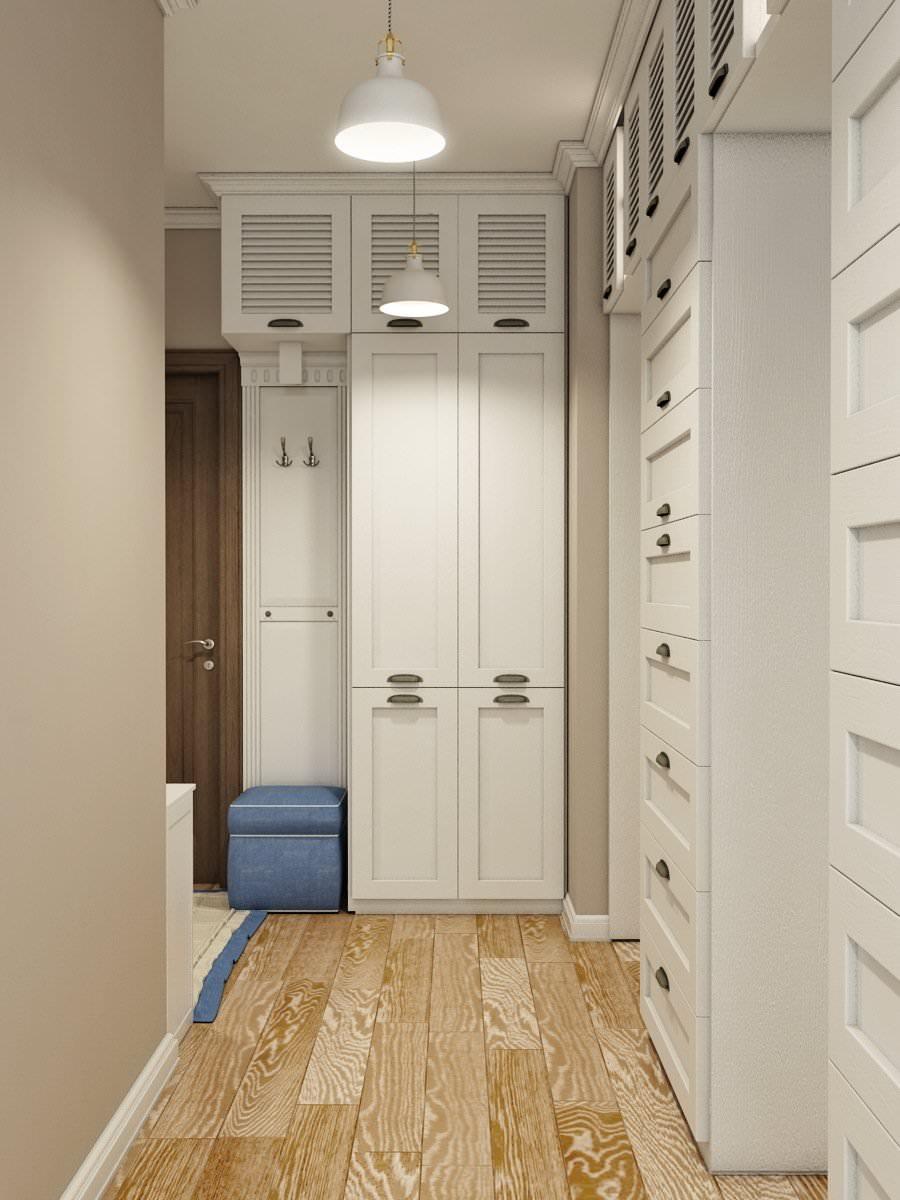яркий дизайн маленькой прихожей комнаты в современном стиле