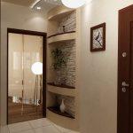 красивый интерьер проходной с маленьким коридором фото