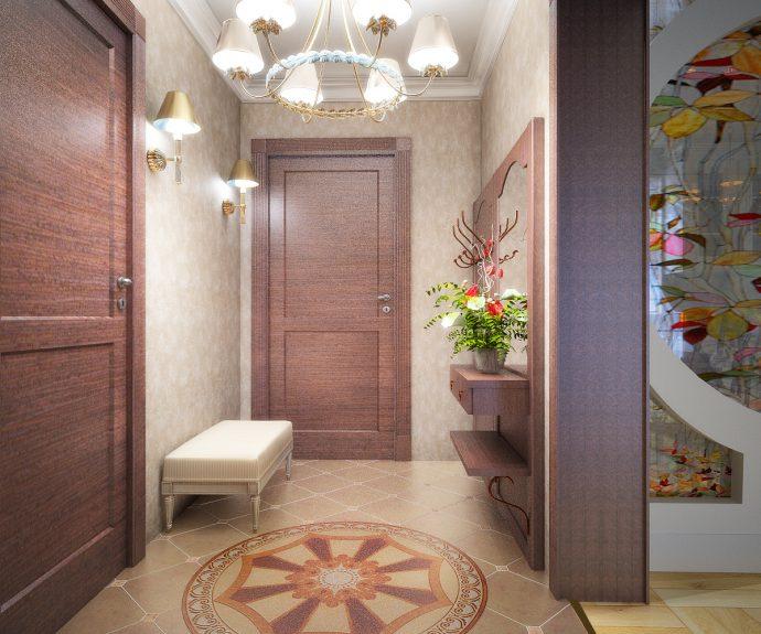 светлый дизайн коридора с маленьким коридором картинка