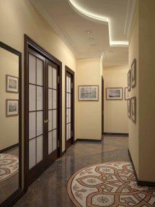 темная плитка в прихожую комнату в стиле прованс картинка