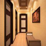 светлые обои в прихожую комнату в стиле прованс под темную дверь картинка