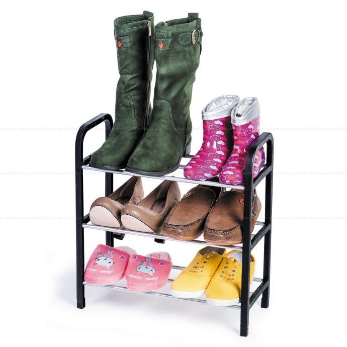 небольшая этажерка для обуви в прихожую картинка