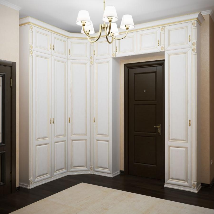 угловой дизайн прихожей комнаты