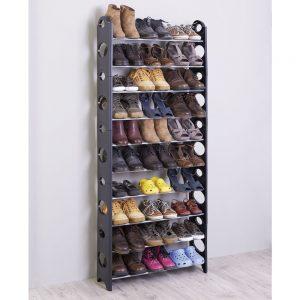узкая деревянная обувница в проходную комнату фото