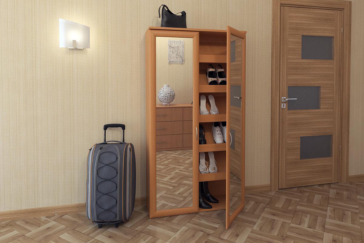 яркая шкафчик для обуви из мдф в прихожую