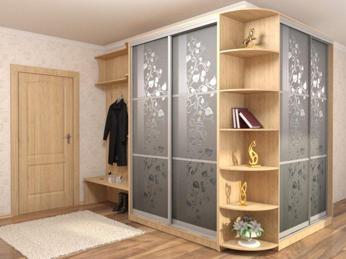 широкий шкаф в коридор стиль