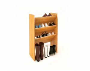 высокая деревянная обувница в прихожую комнату картинка