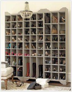 узкая металлическая обувница в коридор картинка