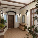 светлая коридор в дизайне прованс фото