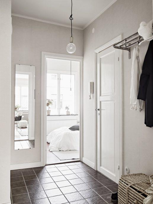светлая коридор в скандинавском стиле фото