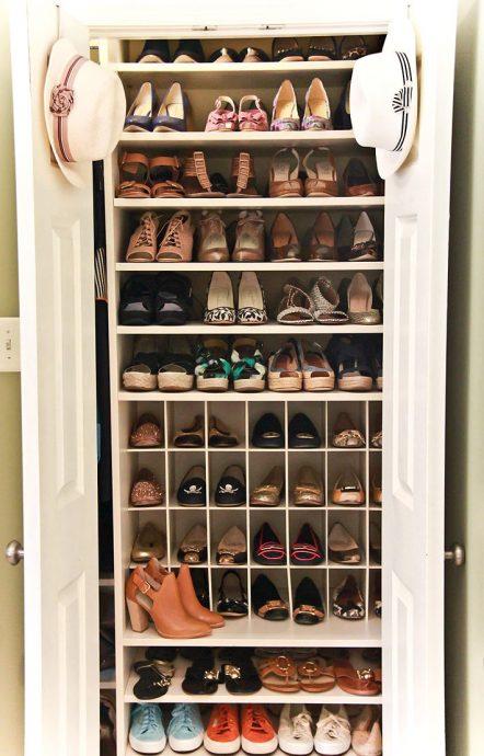 яркая обувница из дсп в прихожую комнату стиль