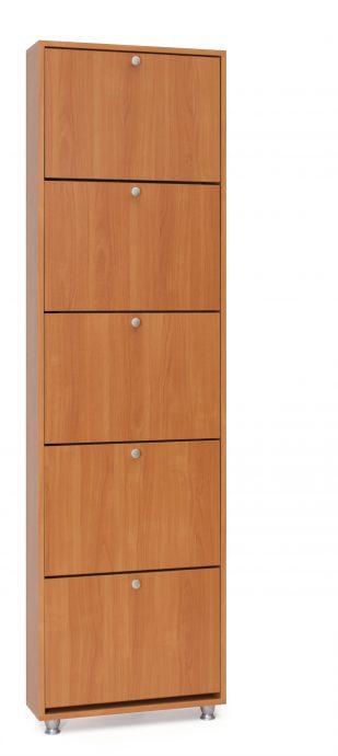 узкая шкафчик для обуви из мдф в коридор интерьер