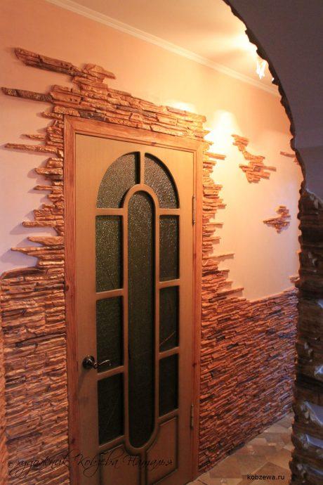 светлая отделка коридора мдф фото