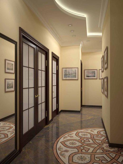 качественная отделка коридора мдф фото