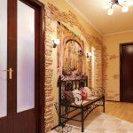 темная напольная плитка в прихожую комнату в стиле прованс фото