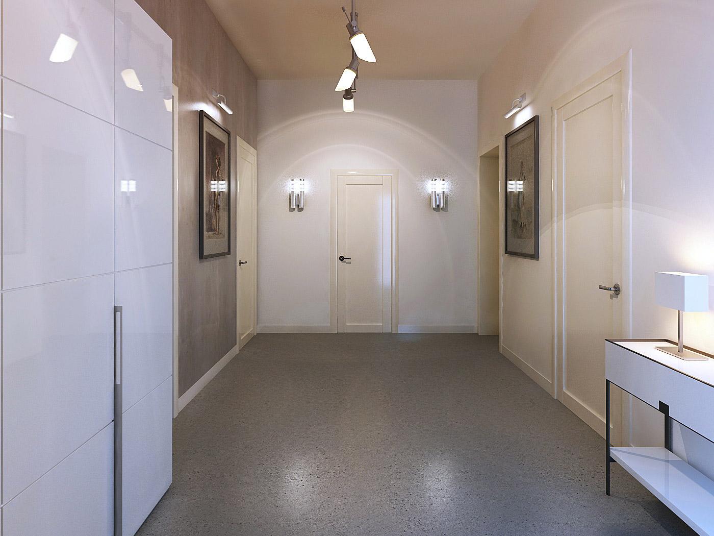 светлая напольная плитка в прихожую комнату в стиле ретро