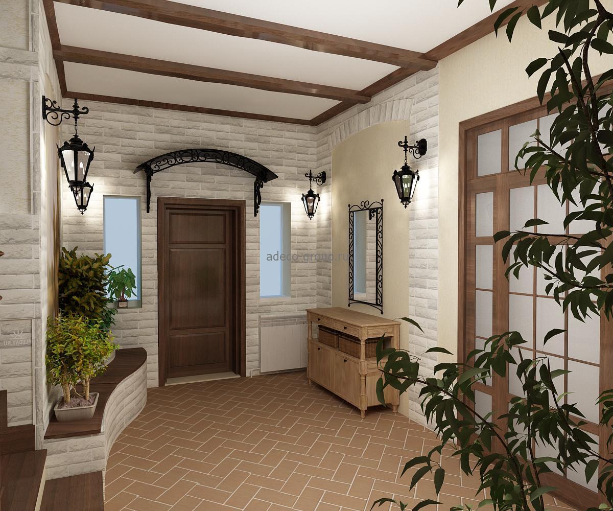 дизайнерская проходная комната в стиле прованс