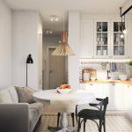 красивая прихожая комната в скандинавском дизайне фото