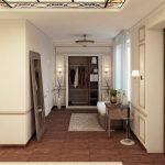 светлая коридор в классическом стиле интерьер фото