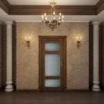 красивая прихожая комната в классическом стиле интерьер картинка