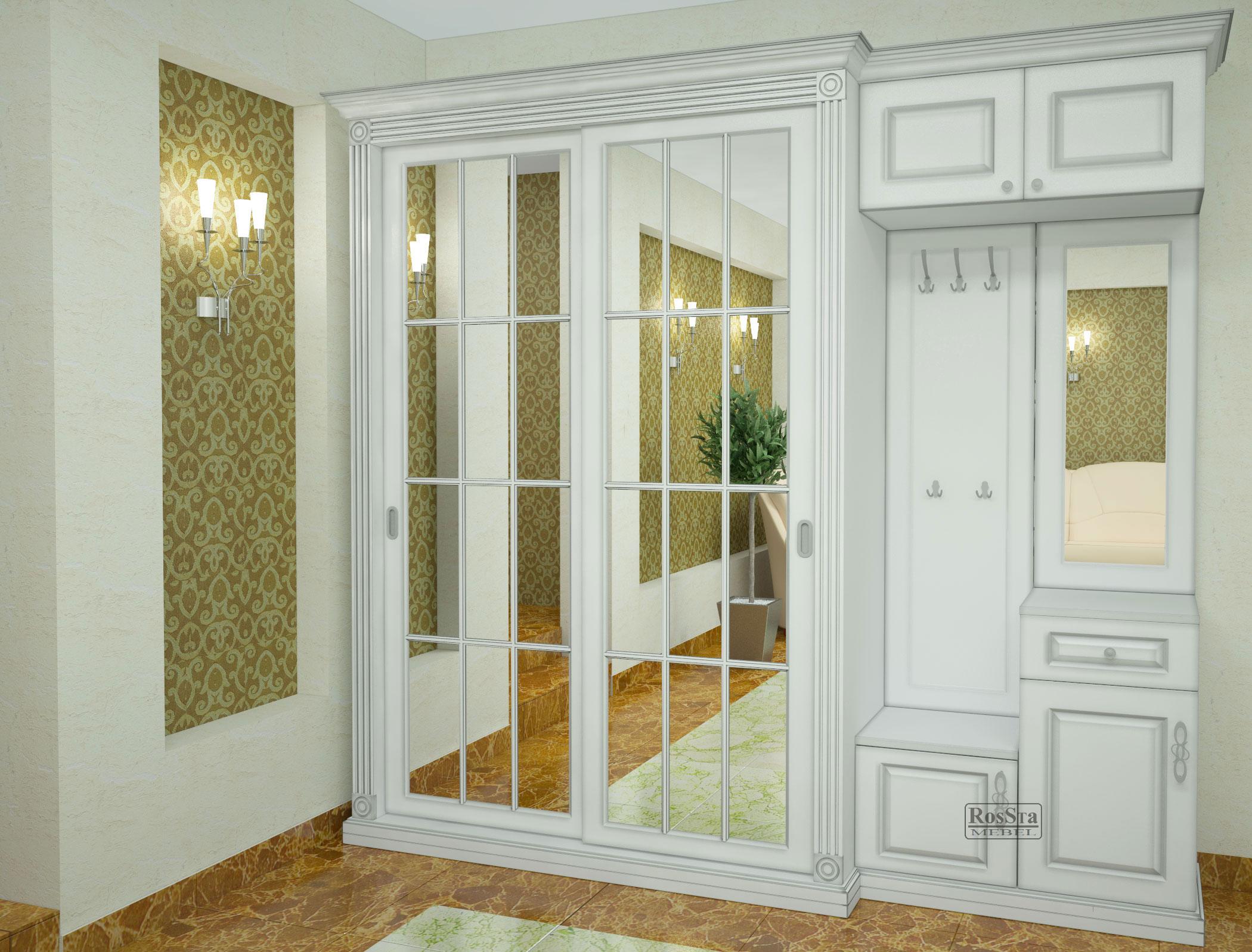 красивая прихожая комната в классическом стиле дизайн