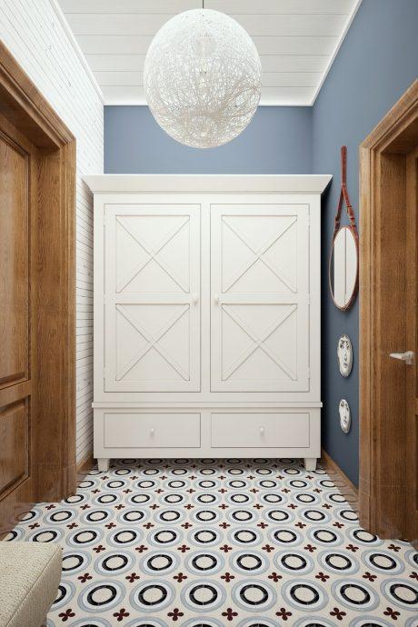 светлая проходная комната в скандинавском стиле картинка