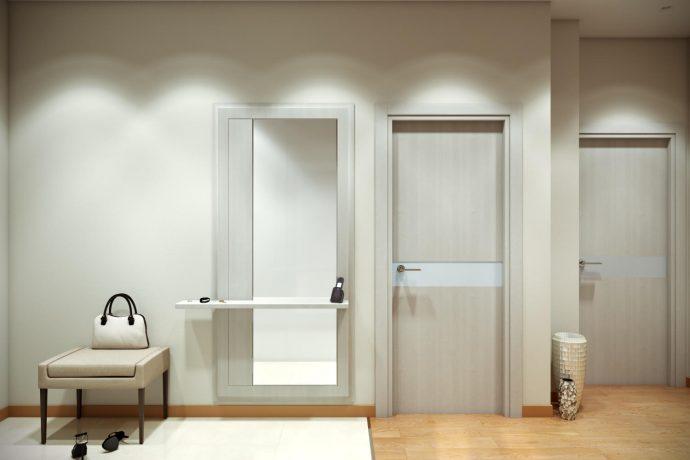яркая проходная комната в скандинавском дизайне фото