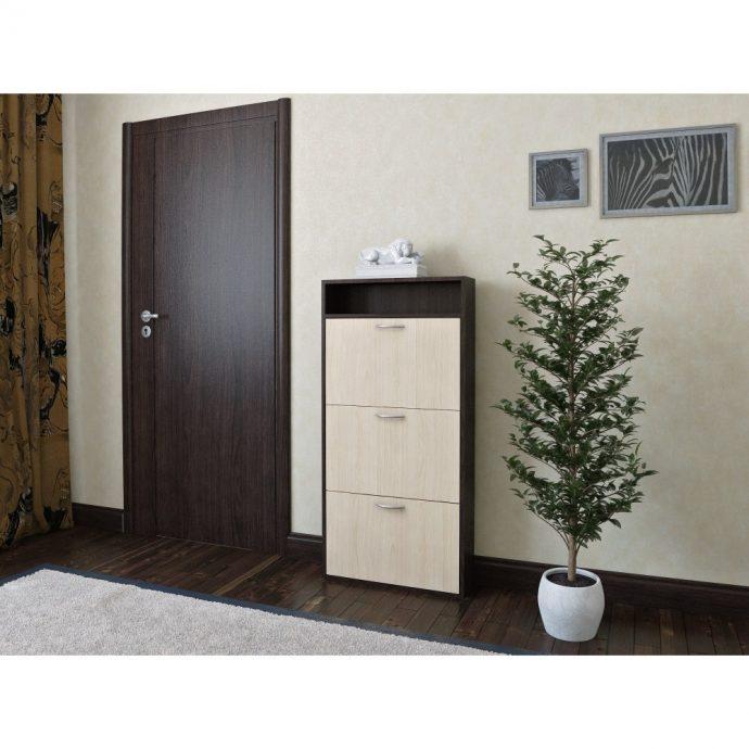 узкая шкафчик для обуви из дсп в коридор стиль