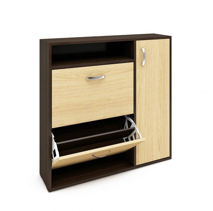 яркая шкафчик для обуви из двп в коридор интерьер
