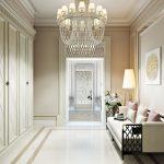 светлая прихожая комната в классическом стиле интерьер картинка