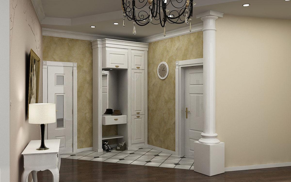 красивая коридор в классическом стиле дизайн