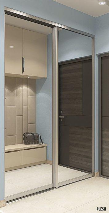 интересный интерьер проходной комнаты с маленьким коридором картинка