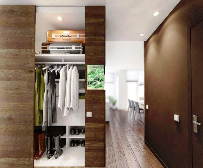 светлый дизайн прихожей комнаты в современном стиле картинка