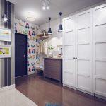 светлый интерьер маленькой прихожей комнаты в современном стиле фото
