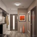 яркий стиль коридора в современном стиле картинка
