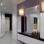 светлый дизайн маленького коридора в новом стиле фото