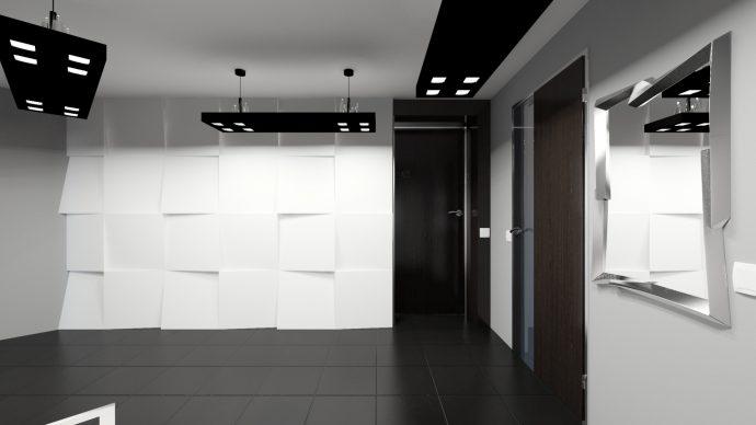 яркий интерьер прихожей комнаты в современном стиле картинка