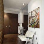 светлый дизайн коридора в современном стиле картинка