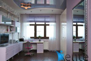 красивый натяжной потолок из натяжной ткани в детской комнате картинка