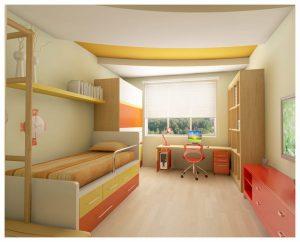 светлый потолок с фотопечатью в игровой комнате картинка